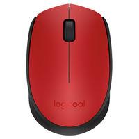 ロジクール(Logicool) 無線(ワイヤレス)マウス レッド 光学式/3ボタン/2年保証 M171RD(直送品)