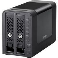 エレコム Linux搭載NAS/2Bay/8TB NSR-MS8T2BLB 1台  (直送品)