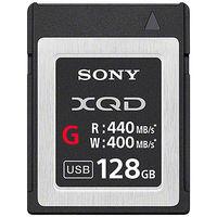 ソニー XQDメモリーカード Gシリーズ 128GB QD-G128E 1個  (直送品)