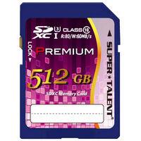 SuperTalent SUPER TALENT UHSーI SDXCメモリーカード 512GB Class10 ST12SU1P 1個  (直送品)