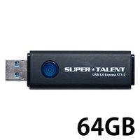 SuperTalent USB3.0フラッシュメモリ 64GB ワンプッシュスライド ST3U64ES12 1個  (直送品)