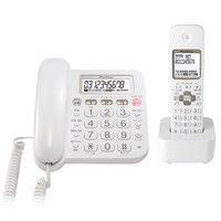 パイオニア デジタルコードレス留守番電話機(子機1台) ホワイト TF-SA15S-W 1個  (直送品)