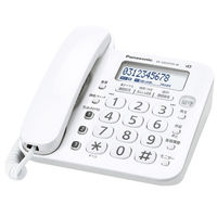 パナソニック 留守番電話機(子機なし)(ホワイト) VE-GD25TA-W 1台  (直送品)