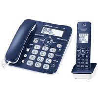 パナソニック コードレス電話機(子機1台付き)(ネイビーブルー) VE-GD35DL-A 1台  (直送品)