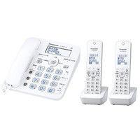 パナソニック コードレス電話機(子機2台付き)(ホワイト) VE-GD35DW-W 1台  (直送品)