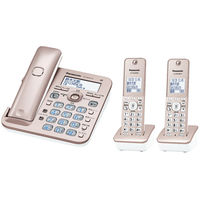 パナソニック コードレス電話機(子機2台付き)(ピンクゴールド) VE-GD55DW-N 1台  (直送品)