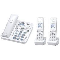 パナソニック コードレス電話機(子機2台付き)(ホワイト) VE-GD55DW-W 1台  (直送品)