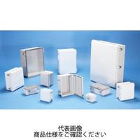 BCPK型防水・防塵鍵付開閉式ポリカーボネートプラボックス カバー/ライトグレー・ボディー/ライトグレー BCPK112607S 1台(直送品)