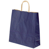 プラス 手提袋 T-6 紺 50枚 1674