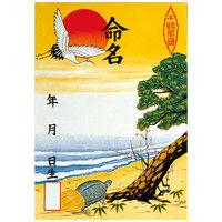 ササガワ タカ印 命名紙 B3判変形 多色刷 28-301 30枚(3枚袋入×10冊袋入)(取寄品)
