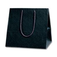 ヘイコー カラーアレンジバッグ M 黒 006441022 1セット(10枚入×5束)(直送品)