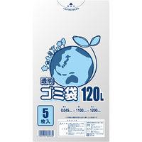 ヘイコー LD透明ゴミ袋 #045 120L 006604870 1セット(5枚入×40束)(直送品)