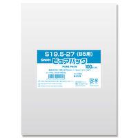 シモジマ スワン ピュアパック S 19.5-27(B5用 テープなし) 006798245 1セット(100枚入×40袋 合計4000枚)(直送品)