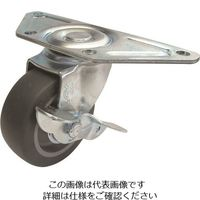 ユーエイ コーナーキャスター 自在ストッパー付 100φエラストマー車輪 SGC-100ELS 1個 858-0574(直送品)