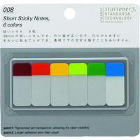 ニトムズ(nitoms) STALOGY 短いふせん6色A S3020 1パック(60枚) 828-1246(直送品)