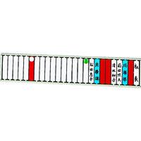 リヒトラブ(LIHIT LAB.) リヒト 回転標示盤(25口座) S2531 1台 855-9823 (直送品)