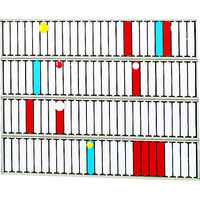 リヒトラブ(LIHIT LAB.) リヒト 回転標示盤(100口座) S2534 1台 855-9826 (直送品)