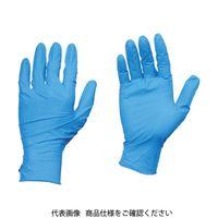 TRUSCO 【一時受注停止】10箱入り 使い捨て天然ゴム手袋TGワーク 0.10 粉付青M TGPL10BM-10C 835-4721(直送品)