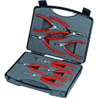 KNIPEX(クニペックス) KNIPEX 8本組 スナップリングプライヤー 002125 1セット 836-3367(直送品)
