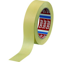 tape tesa マスキングテープ建築内装・養生用 25mm×50m 黄 4323-25-50 1巻(50m) 836-5639(直送品)