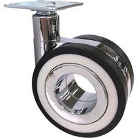 SAMSONG デザイン双輪キャスター「Koo」 プレート 自在 75mm KOO-P-75 828-0268(直送品)