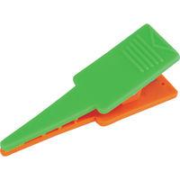 トラスコ中山(TRUSCO) TRUSCO ロッドクリップ 緑/オレンジ 4個入 TPK-GO 1袋(4個) 856-4340 (直送品)