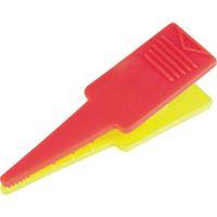 トラスコ中山(TRUSCO) TRUSCO ロッドクリップ 赤/黄色 4個入 TPK-RY 1袋(4個) 856-4339 (直送品)