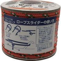 ユタカメイク(Yutaka) ユタカメイク アウトドア用カラーロープ オレンジ 4.5mm×10m ROC-28 1個(10m) 855-6037(直送品)