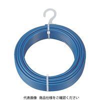 トラスコ中山(TRUSCO) TRUSCO メッキ付ワイヤーロープ PVC被覆タイプ Φ8(10)mmX100 CWP-8S100 856-0816(直送品)