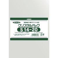 シモジマ HEIKO OPP袋 テープなし クリスタルパック 6751900 S14-20 1袋(100枚) 856-2689(直送品)