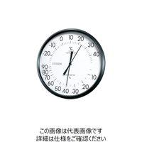 リズム時計(Rhythm Watch) シチズン アナログ温湿度計 ホワイト 9CZ013-003 1個 835-4821 (直送品)
