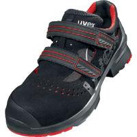 UVEX(ウベックス) UVEX サンダル ブラック/レッド 25.5CM 8536.5-40 1足 855-2776(直送品)