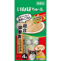 いなば ちゅーる 犬用 総合栄養食 とりささみ ビーフ入り 国産(14g×4本) 1袋 <ちゅ~る>