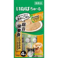 いなば ちゅーる 犬用 総合栄養食 とりささみ チーズ入り 国産(14g×4本) 1袋 <ちゅ~る>