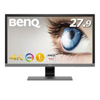 BenQ 27.9インチワイド ゲーミングモニター/液晶モニター メタリックグレー EL2870U 1台(直送品)