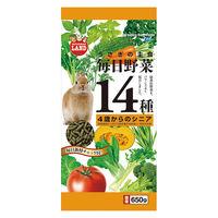 毎日野菜14種 4歳からシニア うさぎ 650g 1袋 マルカン