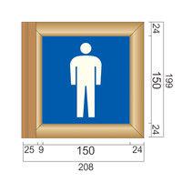 フジタ 突出型木製サイン TWY150 ピクト 男性トイレ104 81-1501(直送品)