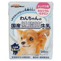 ドギーマン 犬用 わんちゃんの国産低脂肪牛乳 200ml 1個