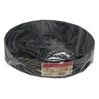 PPソフトロープ 約6mmX200m 黒色 PP#6-200BK 1セット(10巻) まつうら工業(直送品)