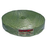 PPソフトロープ 約6mmX200m い草色 PP#6-200IGUSA 1セット(10巻) まつうら工業 (直送品)