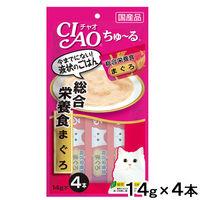 いなば CIAO ちゅーる 猫用 総合栄養食 まぐろ 国産(14g×4本)2袋 <ちゅ~る>