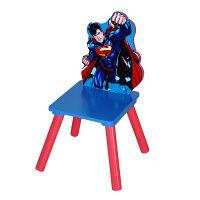<LOHACO> 【アウトレット】ニチガン キッズ用キャラクター木製チェア スーパーマン 1脚 WB-4画像