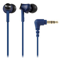 オーディオテクニカ インナーイヤーヘッドホン ブルー ATH-CK350M BL 1個  (直送品)