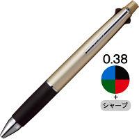 ジェットストリーム4&1 多機能ボールペン 0.38mm シャンパンゴールド 金 4色+シャープ MSXE510003825 三菱鉛筆uni