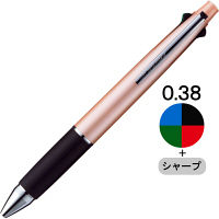 ジェットストリーム4&1 多機能ボールペン 0.38mm ベビーピンク軸 4色+シャープ MSXE510003868 三菱鉛筆uni