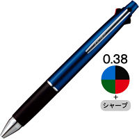 ジェットストリーム4&1 多機能ボールペン 0.38mm ネイビー軸 紺 4色+シャープ MSXE5100038.9 三菱鉛筆uni