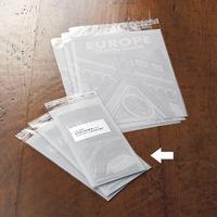 今村紙工 片面ホワイト印刷加工OPP袋 長形3号 白無地 1セット(500枚:100枚入×5袋)