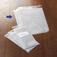 今村紙工 片面ホワイト印刷加工OPP袋 A4 白無地 1箱(5000枚:100枚入×50袋)