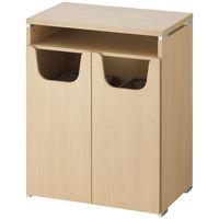 ARAN WORLD EIDOS(エイドス) 収納付ハイカウンター ゴミ箱タイプ 幅800×奥行520×高さ1000mm ライトオーク 1台(5梱包)