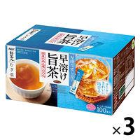 【水出し可】味の素AGF 「新茶人」早溶け旨茶 むぎ茶スティック 1セット(300本:100本入×3箱)